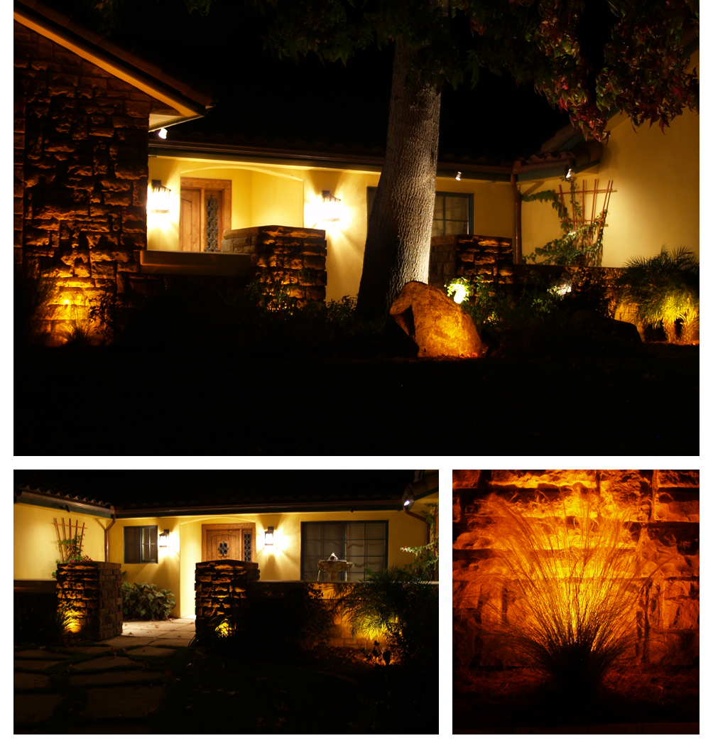 outdoor lighting by chaparral landscape contractor santa maria san