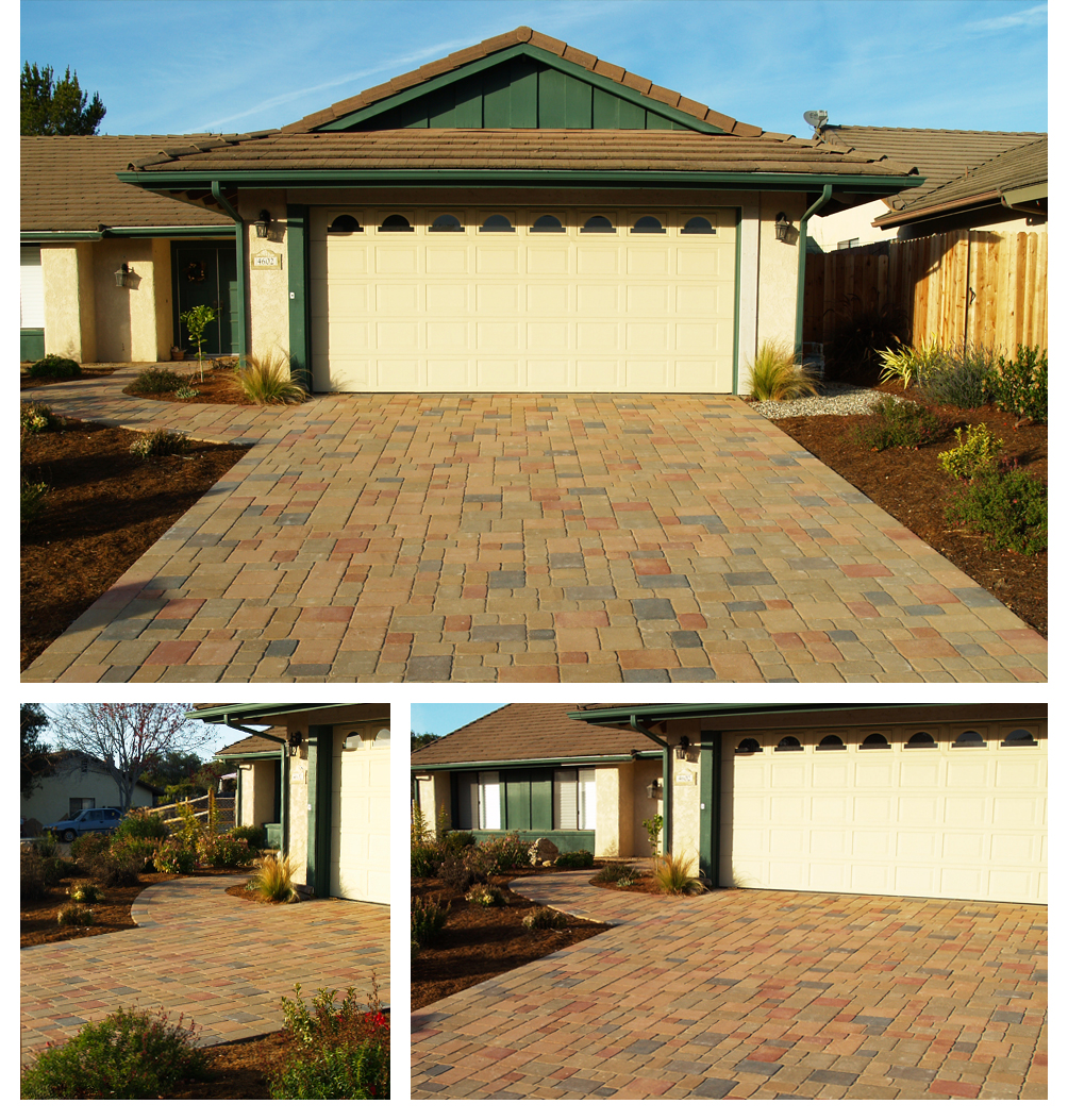 Pavers Driveway in October, Lompoc
