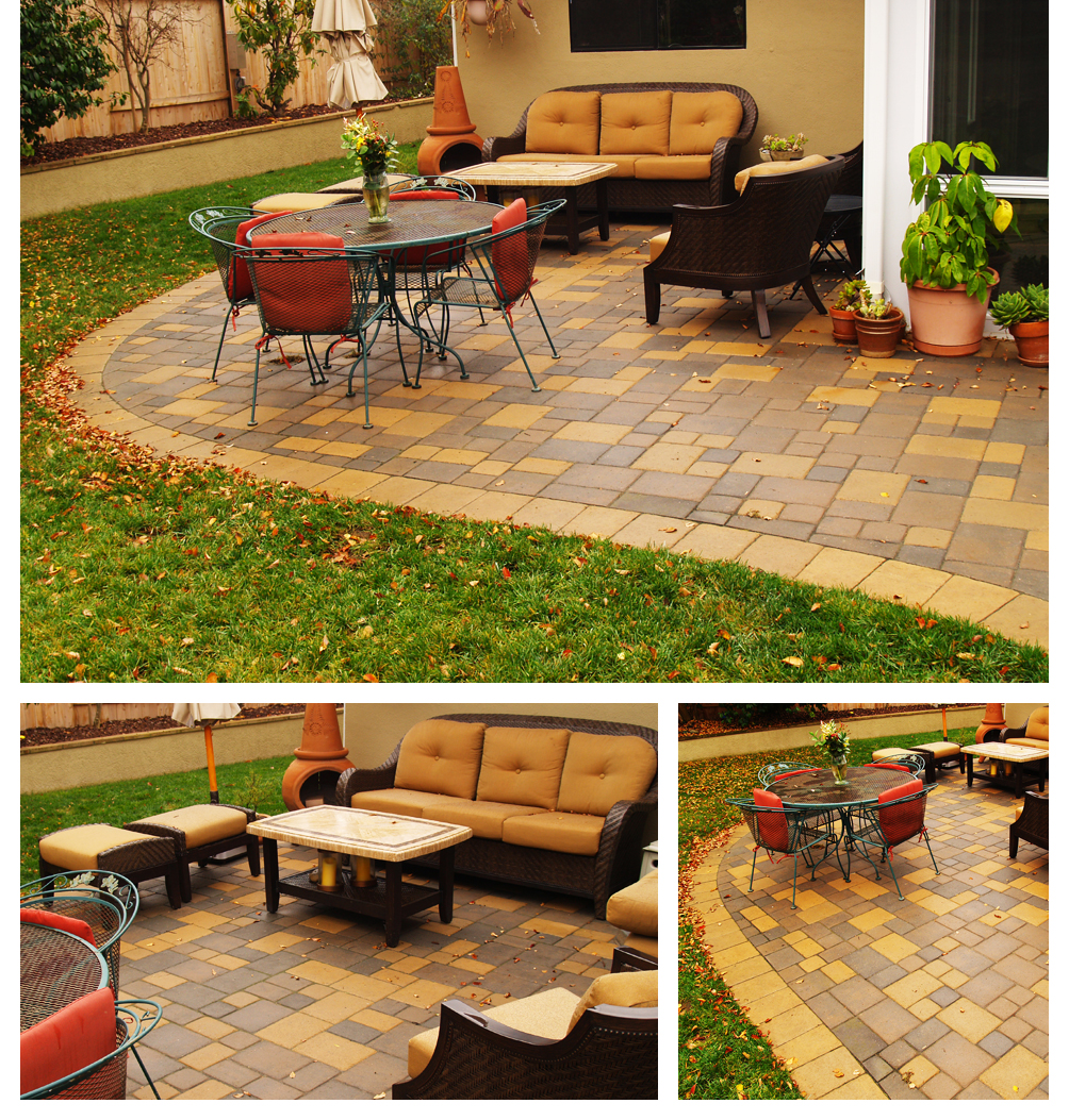Pavers Patio with Gold, Santa Maria