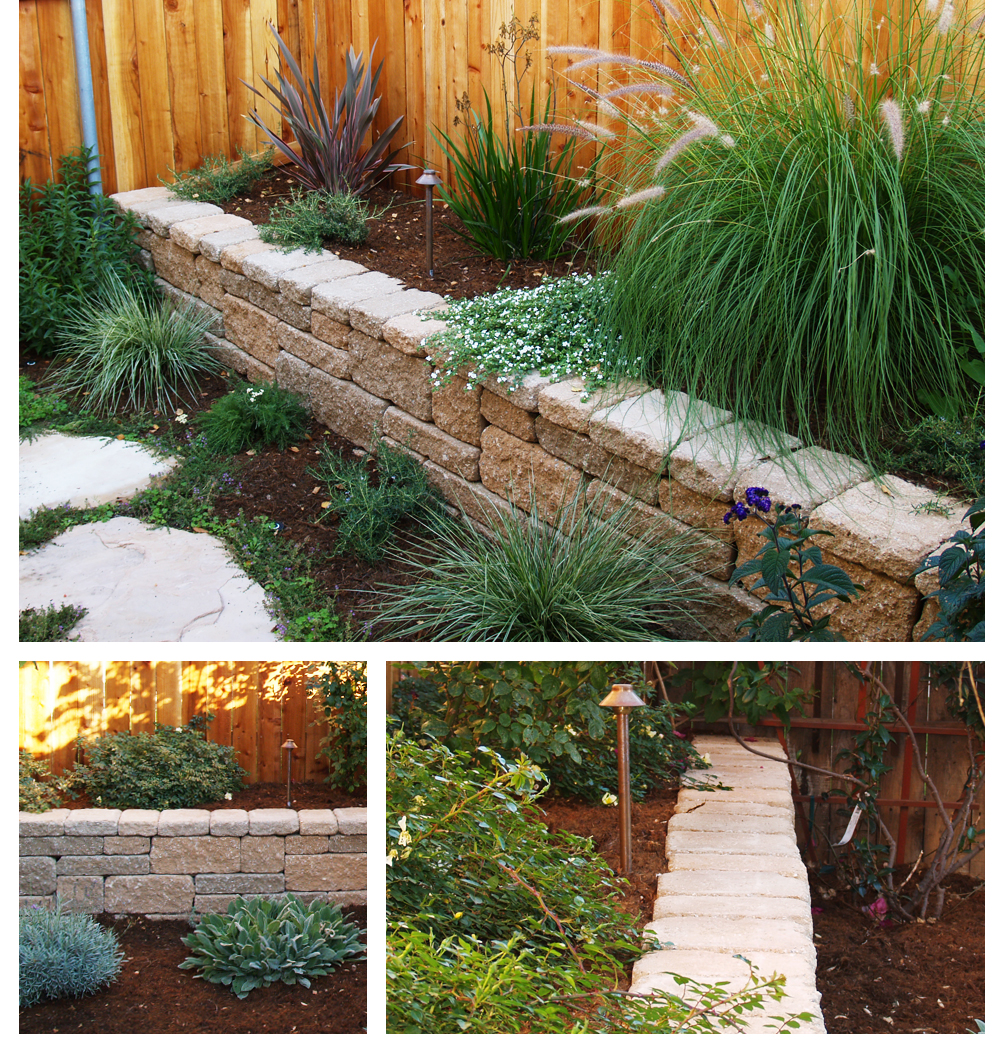 Retaining Wall in Garden, Lompoc